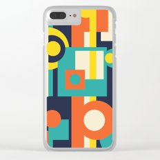 Funky Geometry (Modern Vibrant Color Palette) Clear iPhone Case