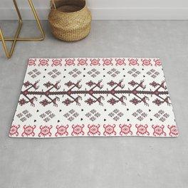 Tribal Ethnic Love Birds Kilim Rug Pattern Rug