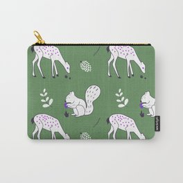 Wildlife - Happy Forest Animals Green Carry-All Pouch