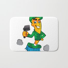 Broom cartoon Bath Mat