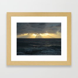 NORTH SHORE GODRAYS Framed Art Print