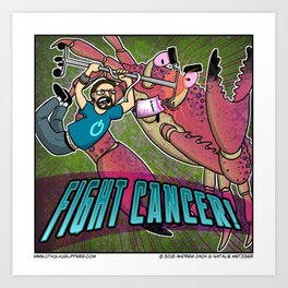 Fight Cancer Art Print