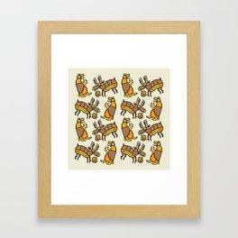 Moose & Bear Framed Art Print