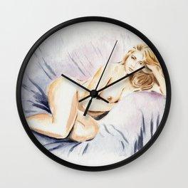 Sexy Curves - Erotic Watercolor Wall Clock