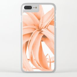 Coral Color Air Plant White Background #decor #society6 #buyart Clear iPhone Case