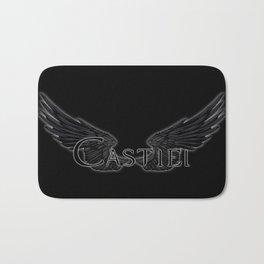Castiel with Wings Black Bath Mat
