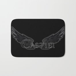 Castiel with Wings Black Bath Mat