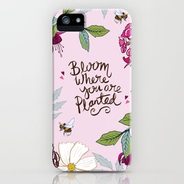Bloom Where You Are Planted, Sweet Williams iPhone Case