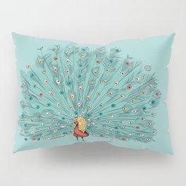 Mr Jackpots - Peacock illustration Pillow Sham