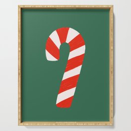 Candy Canes - Green Serving Tray