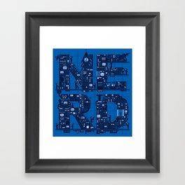 NERD HQ Framed Art Print