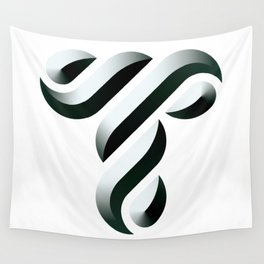 Letter T Wall Tapestry
