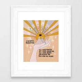 A blissful recognition Framed Art Print