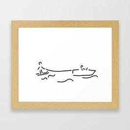 water-ski boat waterski Framed Art Print