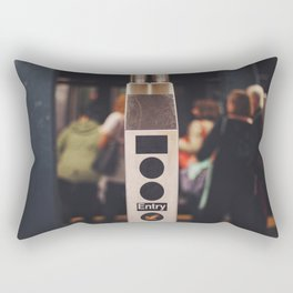 Turnstyle - NYC Rectangular Pillow