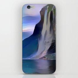 Minimalist Seven Sisters Waterfall iPhone Skin