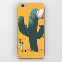 league iPhone & iPod Skins featuring Cactus League by John W. Tomac
