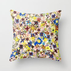 Flower Filed Throw Pillow
