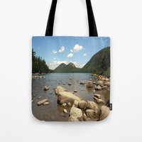maine Tote Bags featuring Maine by Raymond Earley