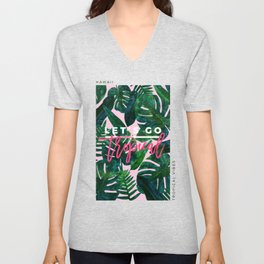 Perceptive Dream || #society6 #tropical #buyart Unisex V-Neck
