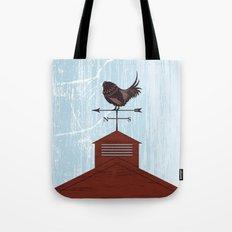 Illustration - Rooster Weather Vane On Textured Sky Tote Bag
