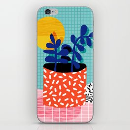 No Way - wacka potted house plant indoor cute hipster neon 1980s style retro throwback minimal pop iPhone Skin