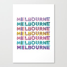 Melbs Canvas Print