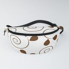 Brown Floral Swirl Pattern Fanny Pack