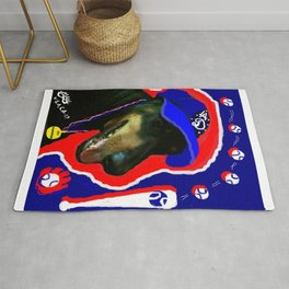 """LA D BASEBALL,MY CHAMPION DOG"",USA ART SPORTS SERIES. Rug"