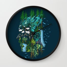 Father Earth Wall Clock