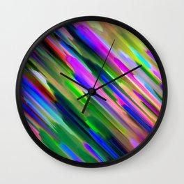 Colorful digital art splashing G487 Wall Clock