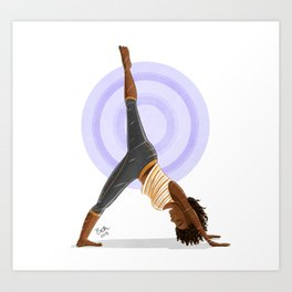 Three-Legged Downward Dog Pose Art Print