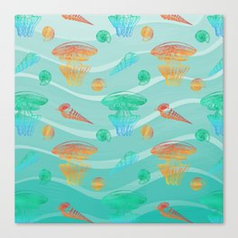Marine Pattern 12 Canvas Print