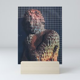 spartacus in voxel Mini Art Print
