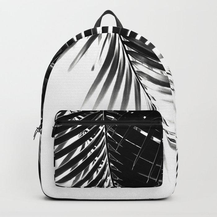 Palm Leaves Black & White Vibes #1 #tropical #decor #art #society6 Rucksack