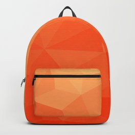 Abstract Geometric Gradient Pattern between Pure Red and very light Orange Backpack