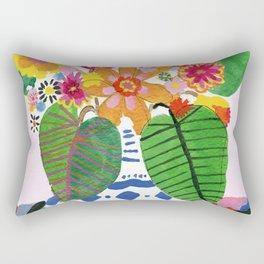 Abstract Flower Bouquet Rectangular Pillow