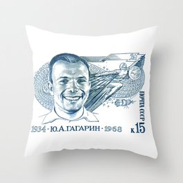 GAGARIN SPACE ODYSSEY Throw Pillow