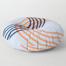 Counterbalance - orange blue Floor Pillow