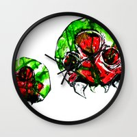 metroid Wall Clocks featuring Metroid by CJ Draden