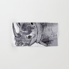 Rhino - Animal Series in Ink Hand & Bath Towel