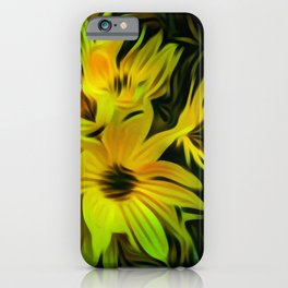 Abstract Yellow Flower Image iPhone Case