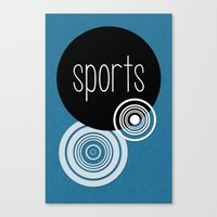 sports Canvas Prints featuring SPORTS by VIAINA DESIGN