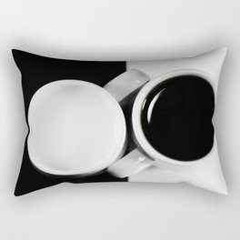 #Yin & #Yang, #coffee and #milk in #Cups #homedecors Rectangular Pillow