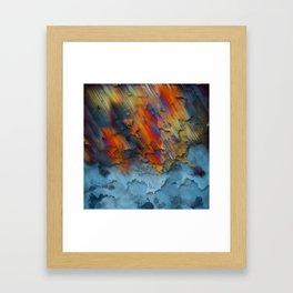 Diagonal Rainbow Redux Framed Art Print