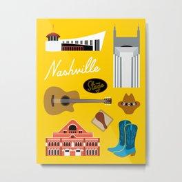 Nashville Art Print Metal Print
