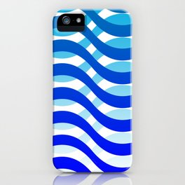 Waving Blue Pattern iPhone Case