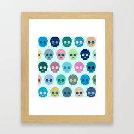 Colorful Skull Cute Pattern Framed Art Print
