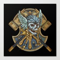 viking Canvas Prints featuring Viking by Spooky Dooky