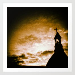 Silent Film Church Art Print